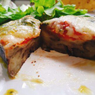 Aubergine eggplant steak
